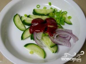 Пряный салат из огурцов - фото шаг 6