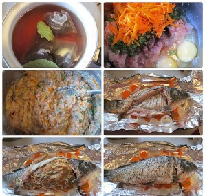 Рыба, фаршированная целиком - фото шаг 2