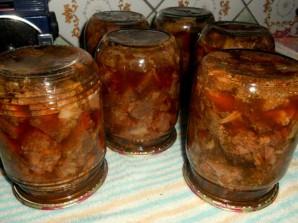 Тушенка из говядины в духовке - фото шаг 4