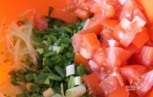 Салат из редьки зеленой - фото шаг 2