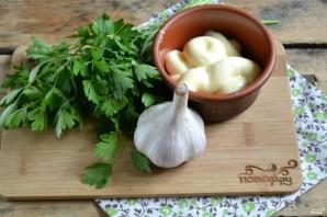 Зеленый чесночный соус - фото шаг 1