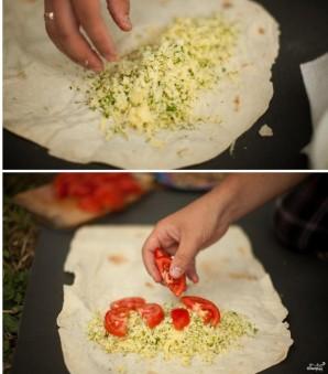 Лаваш с адыгейским сыром и зеленью - фото шаг 4