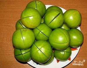 Квашеные зеленые помидоры - фото шаг 2