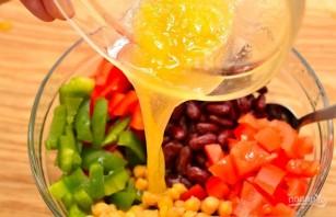 Салат с нутом и фасолью - фото шаг 3