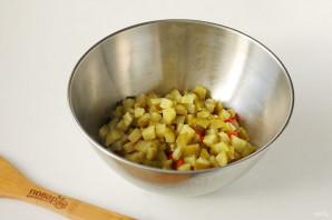 Винегрет с квашеной капустой и огурцами - фото шаг 4