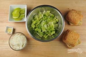 Чиабатта с луком и яблоком - фото шаг 1