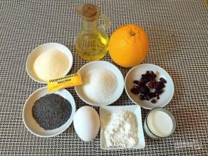 Апельсиновый манник с маком и вяленой клюквой - фото шаг 1