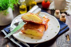 Картофельный мильфей с беконом - фото шаг 10