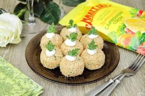 """Закуска """"Сырные шарики"""" с кунжутом и оливками - фото шаг 10"""