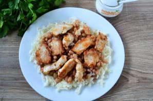 Салат с фасолью, капустой и курицей - фото шаг 5