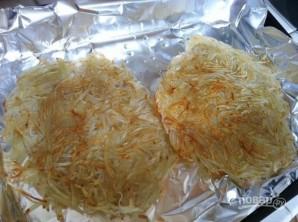 Запечённое яйцо с картофелем и шпинатом - фото шаг 3