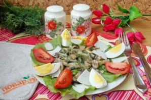 Теплый салат из шампиньонов с топинамбуром - фото шаг 11