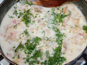 Соус с копченостями и грибами для спагетти - фото шаг 4