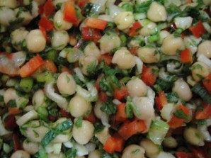 Салат из нута и перца - фото шаг 4
