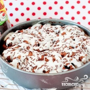 Шоколадные булочки с корицей в глазури - фото шаг 7