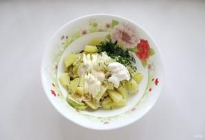 Салат с кабачками и баклажанами - фото шаг 11