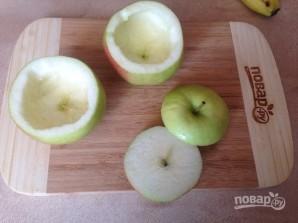 Яблоки, запеченные с джемом и бананом - фото шаг 2