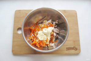 "Мясной салат ""Крыска"" - фото шаг 8"