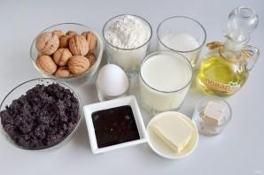 Пирог с шоколадной пастой, маком и орехами - фото шаг 1