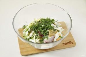 ПП салат с кальмаром - фото шаг 7