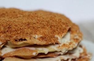 """Торт """"Наполеон"""" с кремом из сгущенки - фото шаг 7"""
