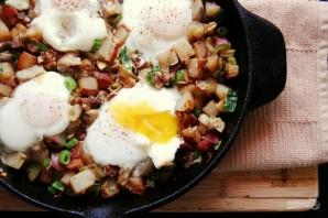 Яичница с артишоками и картофелем - фото шаг 4