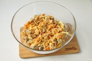 Салат из свинины и моркови - фото шаг 7