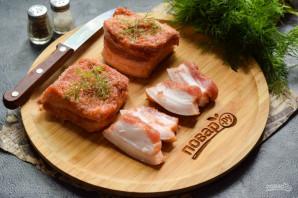 Соленое сало с красным перцем - фото шаг 7