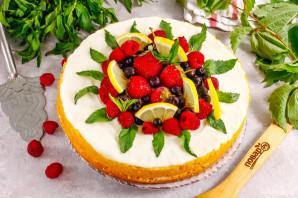 Лимонно-ягодный торт - фото шаг 9