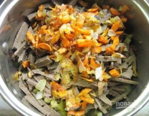 Салат с печенью говяжьей - фото шаг 8