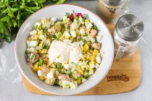 Салат из печени и икры минтая - фото шаг 4