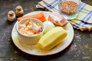 Гречневый суп с фасолью - фото шаг 1