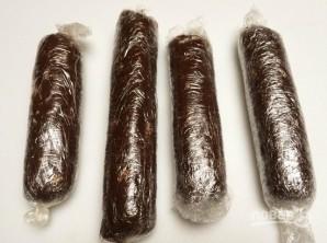 """Шоколадная колбаска """"Сладкоежка"""" - фото шаг 6"""