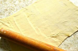 Яблочный штрудель из слоеного бездрожжевого теста - фото шаг 3