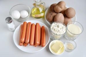 Сосиски в картофельном тесте - фото шаг 1