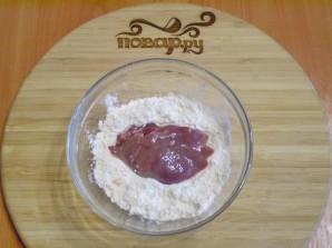 Печень, тушеная в сметане - фото шаг 2