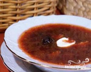 Борщ с черносливом - пошаговый рецепт с фото на