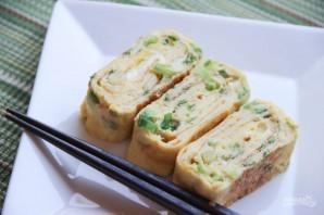 Слоеный омлет с зеленью - фото шаг 8