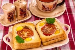 Горячие бутерброды с окороком, помидорами и яйцами - фото шаг 7