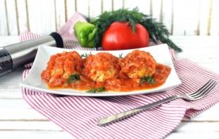 Индюшиные тефтели с рисом и перцем в томатном соусе - фото шаг 10