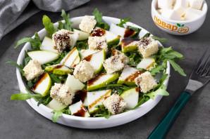 Зеленый салат с грушей - фото шаг 7