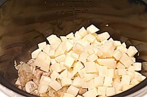 Суп с грибами в мультиварке   - фото шаг 3