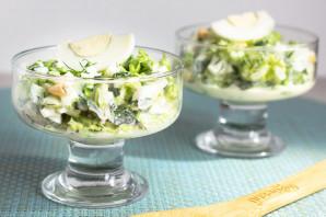 Зеленый салат с пекинской капустой - фото шаг 8