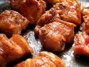 Тыква со свининой - фото шаг 2