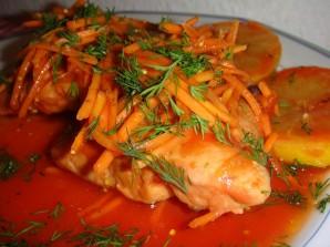 Рыба в маринаде с морковкой - фото шаг 3
