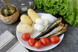 Салат с копченой салакой - фото шаг 1