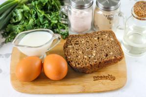 Омлет с хлебом - фото шаг 1
