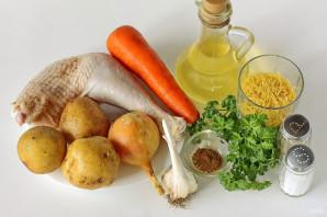 Куриный суп с чесноком - фото шаг 1