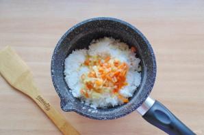 Морской окунь с рисом в духовке
