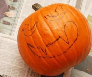 Тыква на Хэллоуин - фото шаг 6